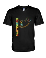 Bartender Love What You Do V-Neck T-Shirt thumbnail