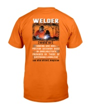 Welder's True Definition Classic T-Shirt back