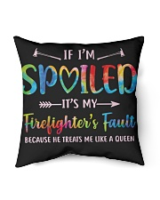 "Firefighter's Fault Indoor Pillow - 16"" x 16"" back"