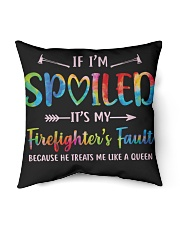 "Firefighter's Fault Indoor Pillow - 16"" x 16"" front"
