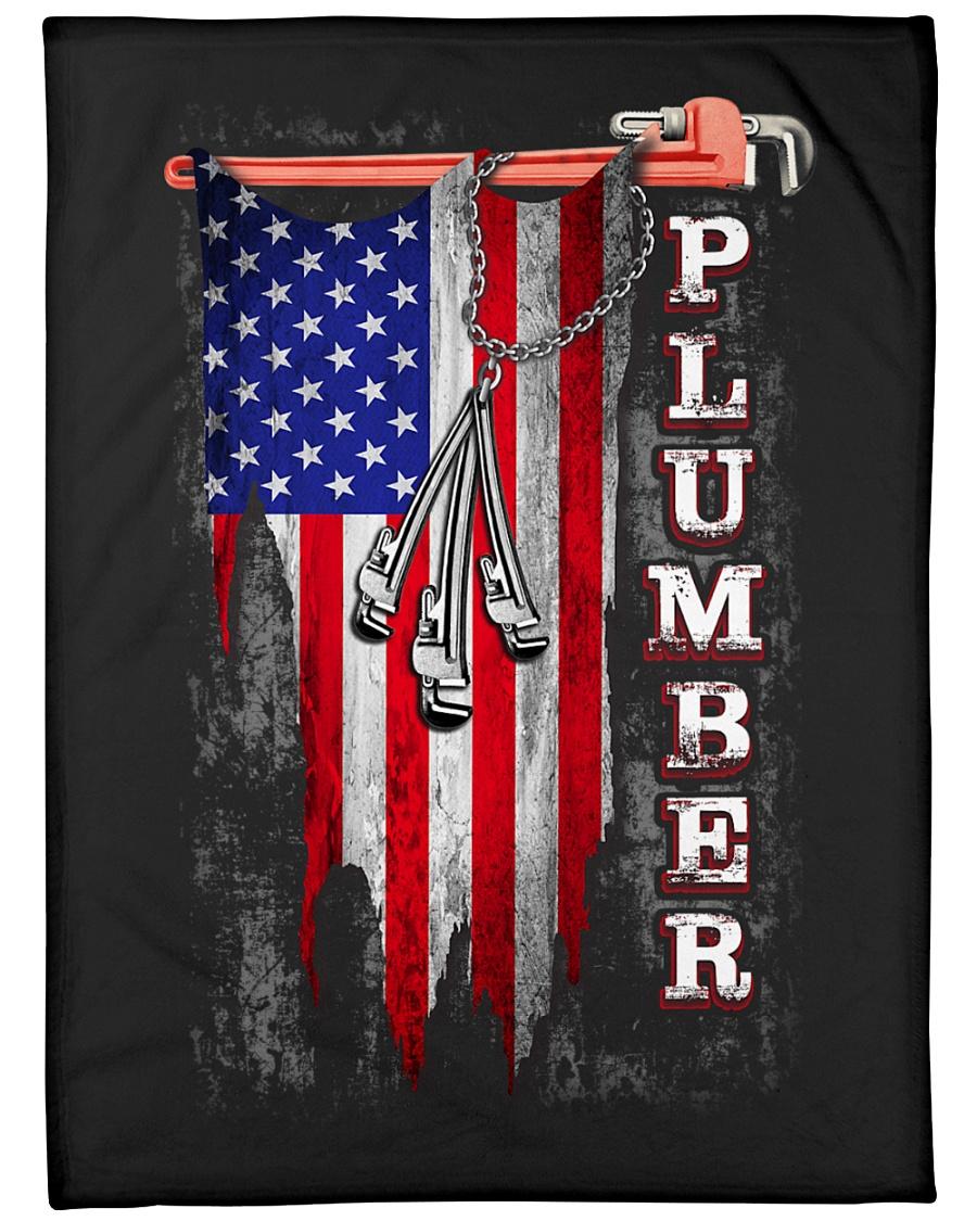 """Plumber USA Flag Large Fleece Blanket - 60"""" x 80"""""""