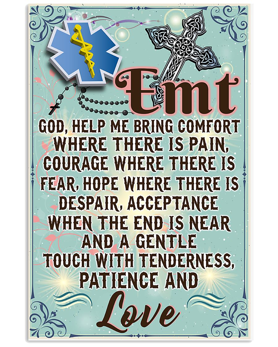 EMT Prayer  11x17 Poster