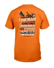 Lineman - Seriously Impressed Classic T-Shirt back