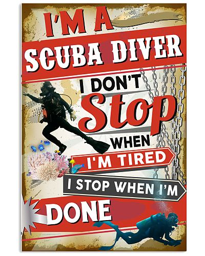Awesome Scuba Diving's Canvas and Posters