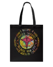 I Became a Physical Therapist Tote Bag thumbnail