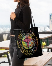 I Became a Physical Therapist All-over Tote aos-all-over-tote-lifestyle-front-04