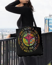 I Became a Physical Therapist All-over Tote aos-all-over-tote-lifestyle-front-05