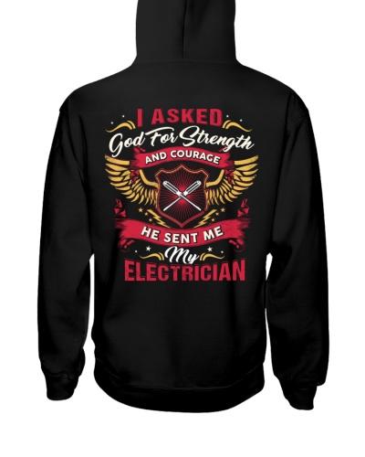 Cute Electrician's Lady Hoodie