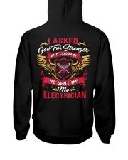 Cute Electrician's Lady Hoodie Hooded Sweatshirt back