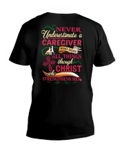 Caregiver Who Does All Things V-Neck T-Shirt tile