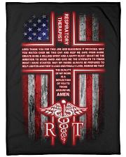 "Respiratory Therapist's Prayer Large Fleece Blanket - 60"" x 80"" front"