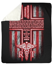 "Respiratory Therapist's Prayer Sherpa Fleece Blanket - 50"" x 60"" thumbnail"