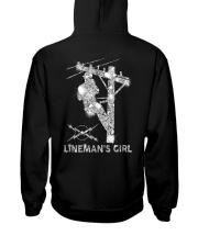Proud Lineman's Girl Crystal Effect Hooded Sweatshirt thumbnail