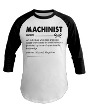 Proud machinist Baseball Tee tile