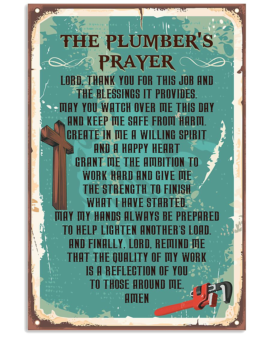 Plumber Prayer 11x17 Poster