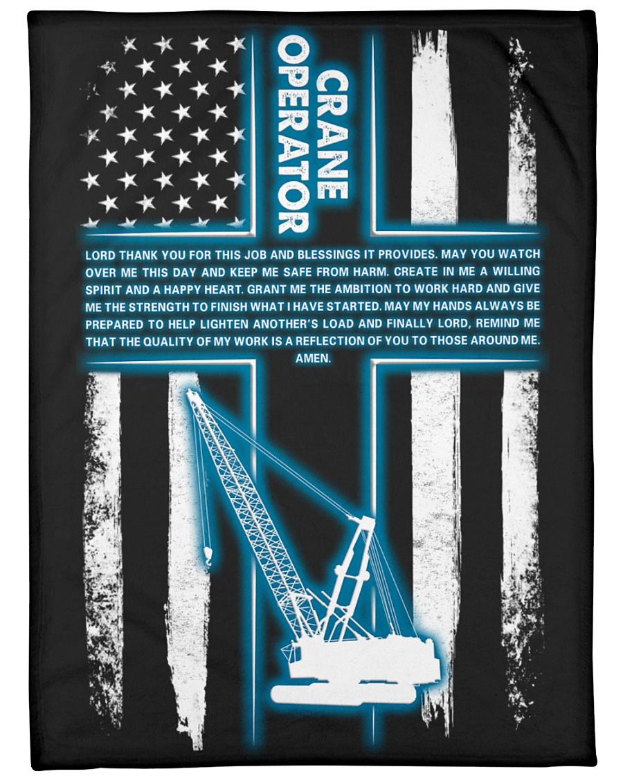 "Crane Operator's Prayer Large Fleece Blanket - 60"" x 80"""