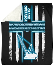 "Crane Operator's Prayer Sherpa Fleece Blanket - 50"" x 60"" thumbnail"