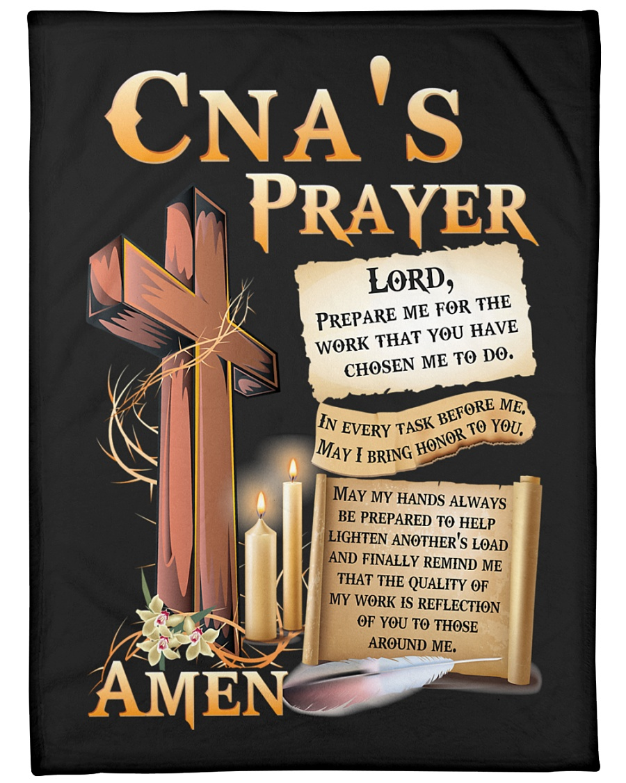 "CNA's Prayer Large Fleece Blanket - 60"" x 80"""