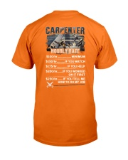 Carpenter Hourly Rate Shirt and Hoodie  Classic T-Shirt back
