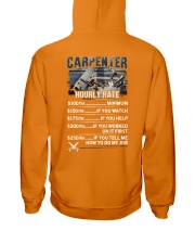 Carpenter Hourly Rate Shirt and Hoodie  Hooded Sweatshirt thumbnail