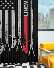 Lineman USA Flag Window Curtain - Blackout aos-window-curtains-blackout-50x84-lifestyle-front-01