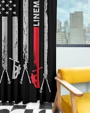 Lineman USA Flag Window Curtain - Blackout aos-window-curtains-blackout-50x84-lifestyle-front-03