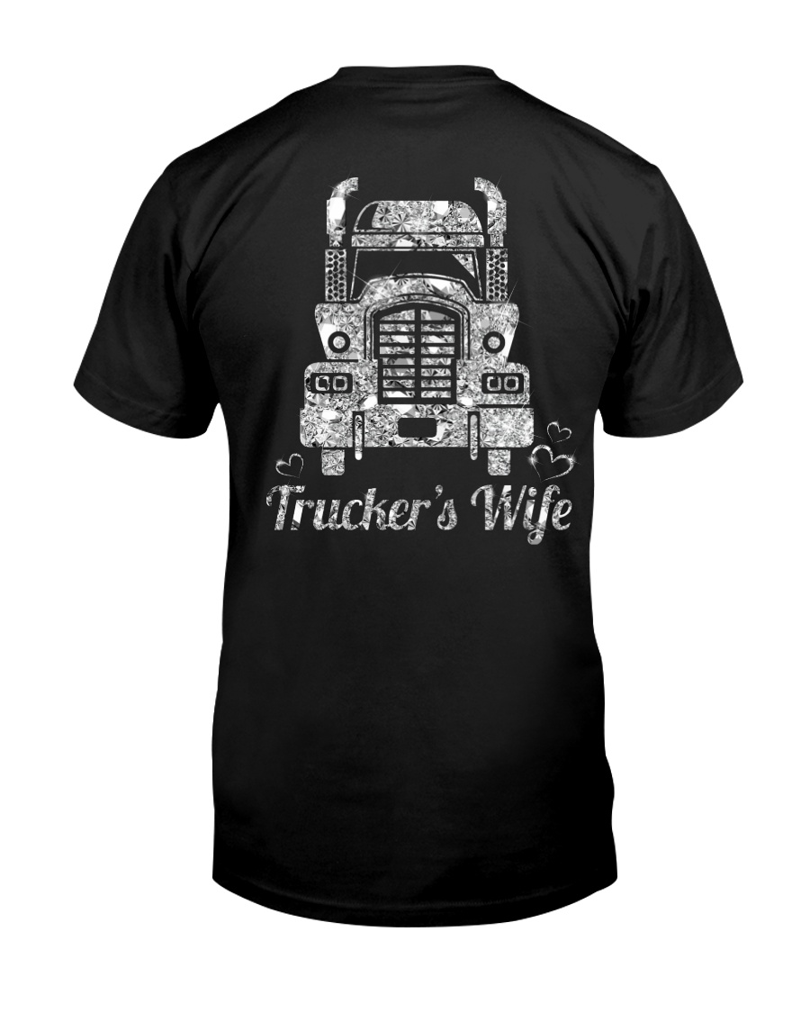 Proud Trucker's Wife Crystal Effect Classic T-Shirt