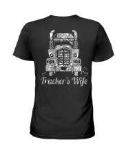 Proud Trucker's Wife Crystal Effect Ladies T-Shirt thumbnail