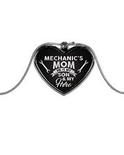 Proud Mechanic's Mom Metallic Heart Necklace front