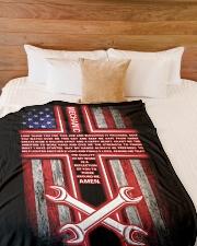 "Mechanic's Prayer Large Fleece Blanket - 60"" x 80"" aos-coral-fleece-blanket-60x80-lifestyle-front-02"