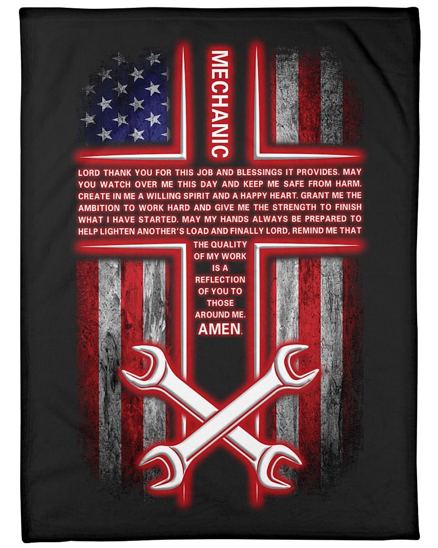 "Mechanic's Prayer Large Fleece Blanket - 60"" x 80"""