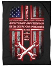 "Mechanic's Prayer Large Fleece Blanket - 60"" x 80"" front"