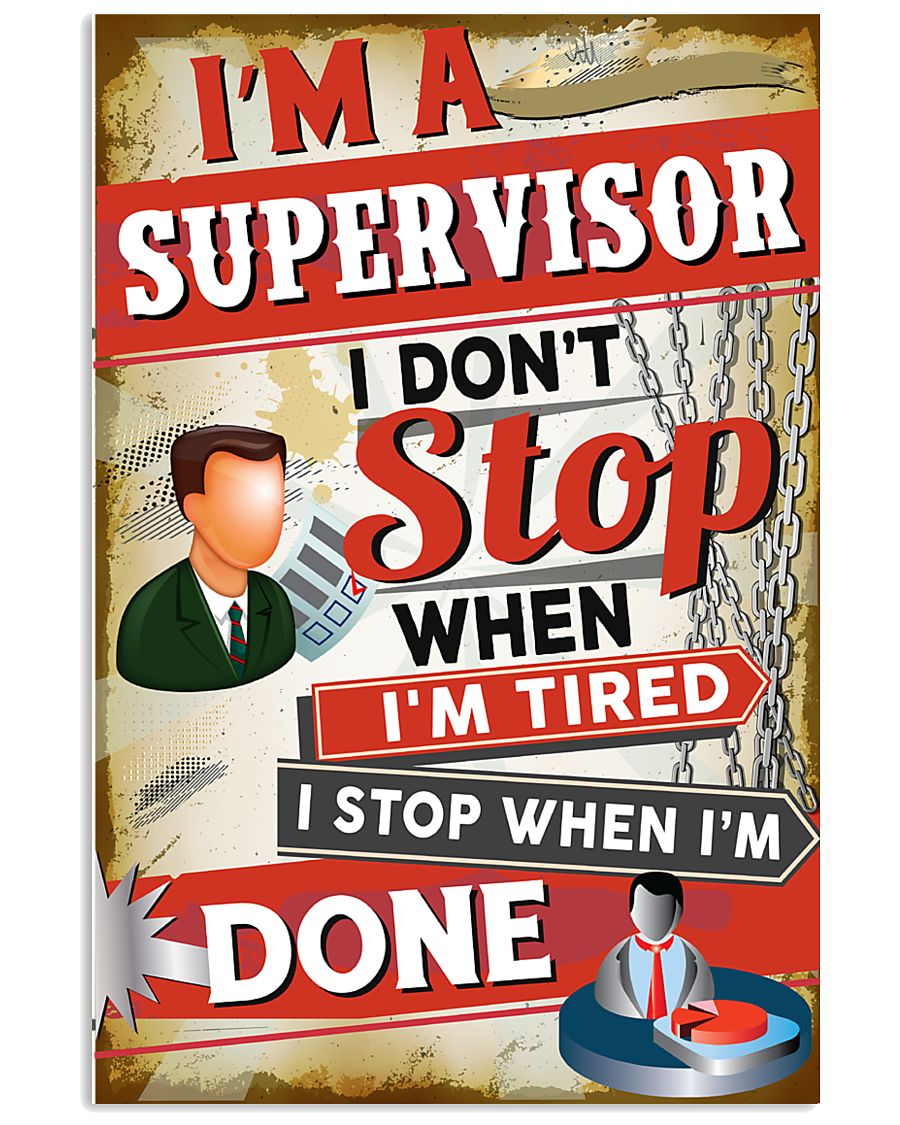 Awesome Supervisor's Canvas and Posters 11x17 Poster
