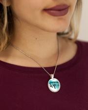 Cute Electrician's Wife Metallic Circle Necklace aos-necklace-circle-metallic-lifestyle-1