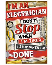 Awesome Electrician's Canvas and Posters 11x17 Poster front