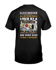 Awesome Electrician Shirt Classic T-Shirt back