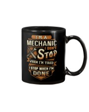 Mechanic - I Stop when I'm done Mug thumbnail
