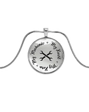 Cute Mechanic's Lady Metallic Circle Necklace front