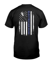 Electrician American Flag  Classic T-Shirt back
