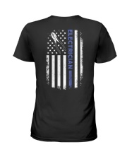 Electrician American Flag  Ladies T-Shirt thumbnail