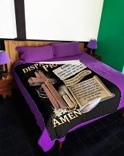 "Dispatcher's Prayer Large Fleece Blanket - 60"" x 80"" aos-coral-fleece-blanket-60x80-lifestyle-front-01"