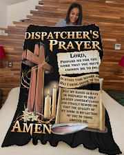 "Dispatcher's Prayer Large Fleece Blanket - 60"" x 80"" aos-coral-fleece-blanket-60x80-lifestyle-front-04"