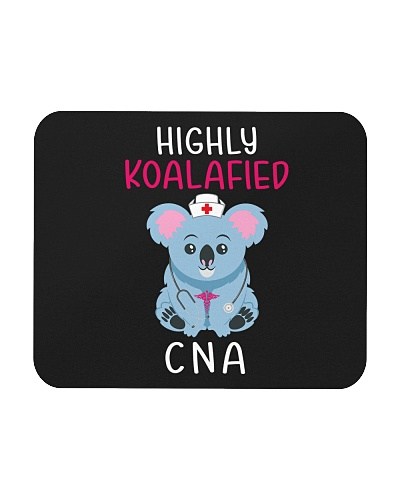 Cute Highly Koalafied CNA- Mouse Pad