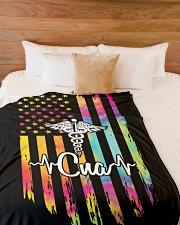 "Proud CNA Large Fleece Blanket - 60"" x 80"" aos-coral-fleece-blanket-60x80-lifestyle-front-02"
