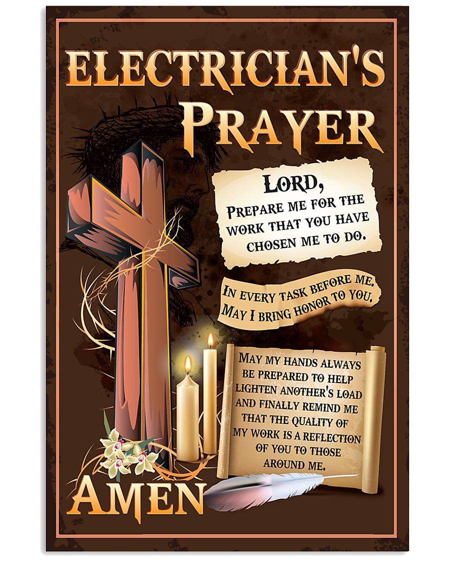 Electrician's Prayer 11x17 Poster