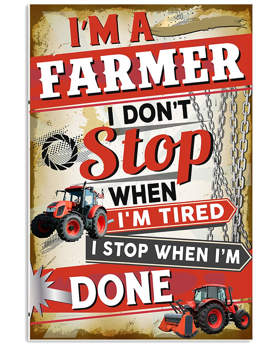 Awesome Farmer's Canvas and Posters 11x17 Poster