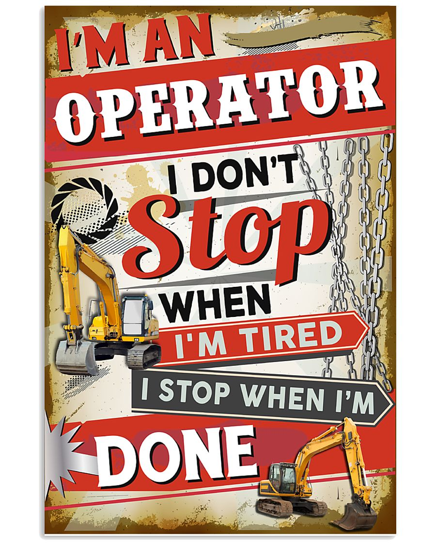 Awesome Operator's Canvas and Posters 11x17 Poster