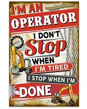 Awesome Operator's Canvas and Posters 11x17 Poster front