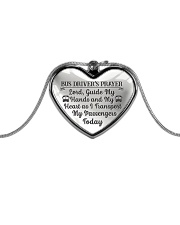 Proud Bus Driver's Prayer Metallic Heart Necklace front