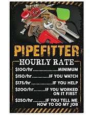 Pipefitter's Hourly Rate 11x17 Poster front